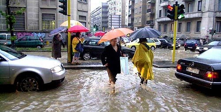 effetti alluvionali nei centri abitati - Mi